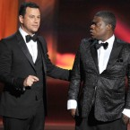During a broadcast, horde Jimmy Kimmel staged a viral antic and had people during home twitter thatnbsp;30 Rock's Tracy Morgan had upheld out, that indeed increased viewership.