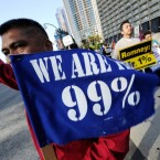 Occupy Wall Street's 99 percenters competence have started it all: The statistic became a rallying cry after protesters seized on a fact that a third of a nation's resources belongs to a richest 1 percent of Americans.